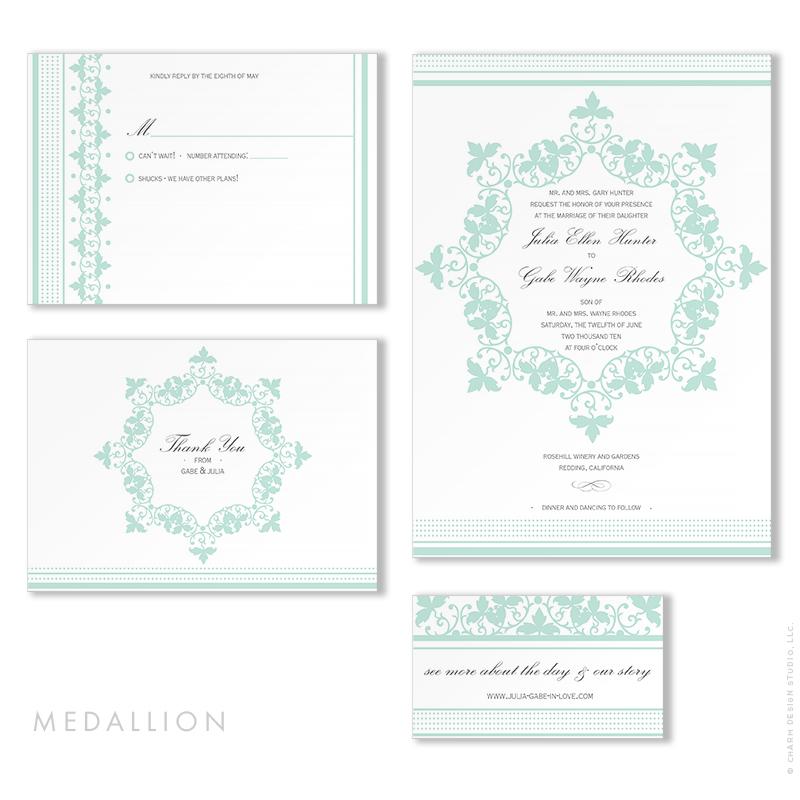 Medallion - wedding stationery design by Charm Design Studio