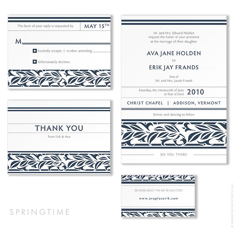 Springtime - wedding stationery design by Charm Design Studio