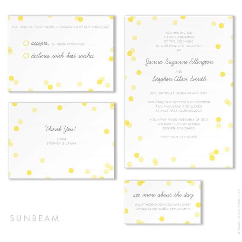 Sunbeam - wedding stationery design by Charm Design Studio