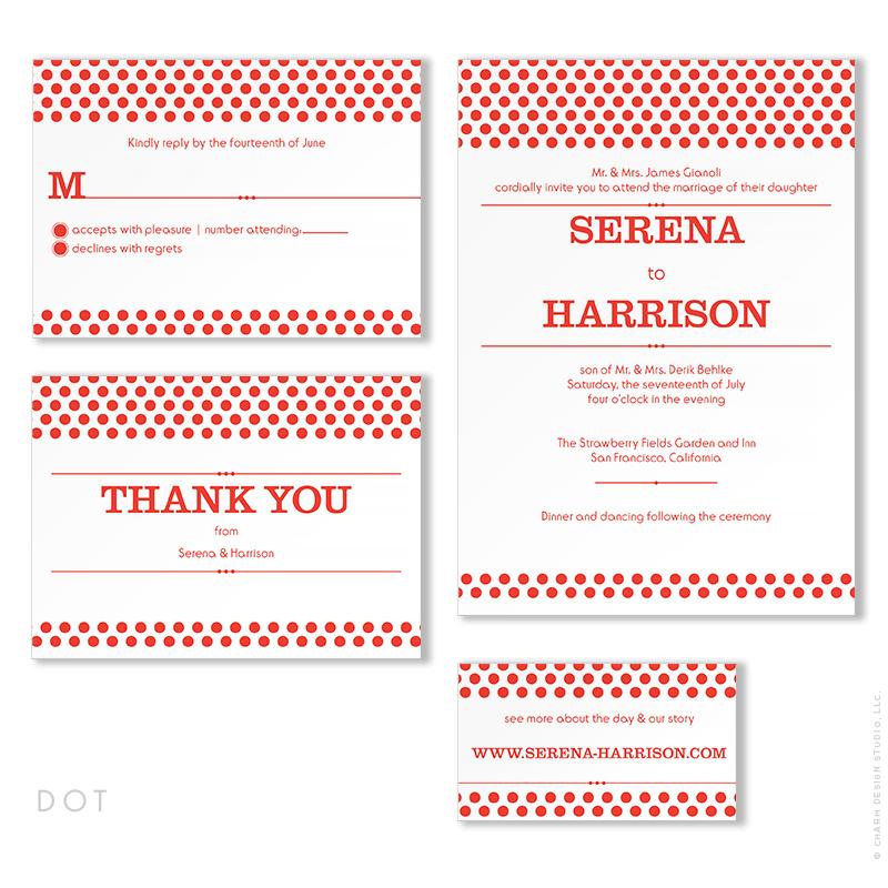 Dot - wedding stationery design by Charm Design Studio