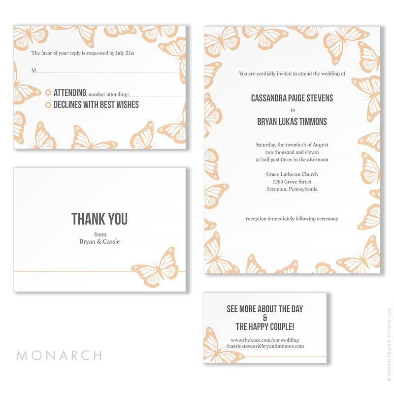 Monarch - wedding stationery design by Charm Design Studio