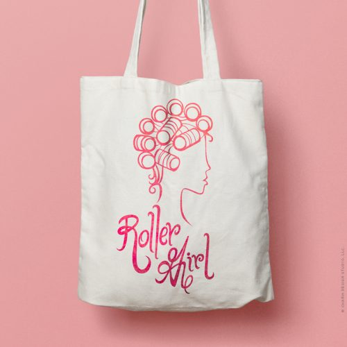 Charm Design Studio / Roller Girl tote bag design