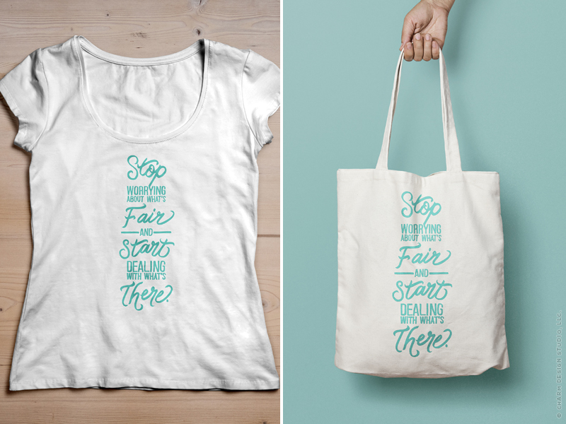 What's There hand lettering design by Charm Design Studio