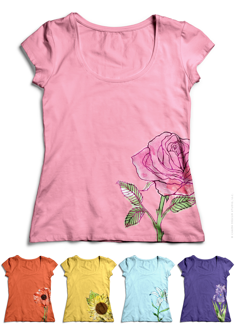 Garden Sunshine T-shirt designs by Charm Design Studio