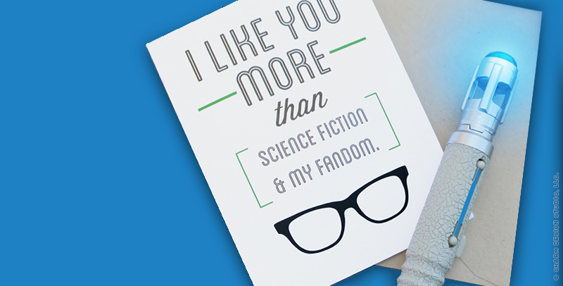 Geekery Greetings card by Charm Design Studio