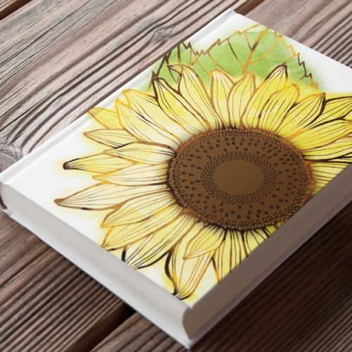 Garden Sunshine sunflower journal by Charm Design Studio
