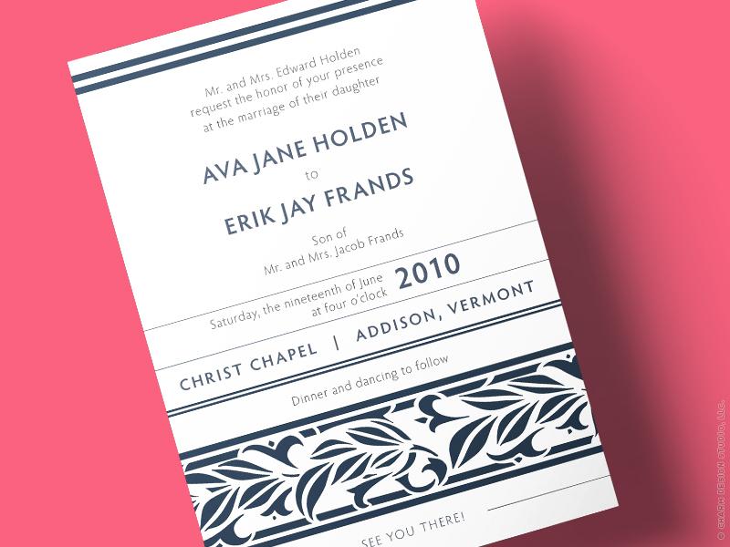 Springtime wedding invitation by Charm Design Studio