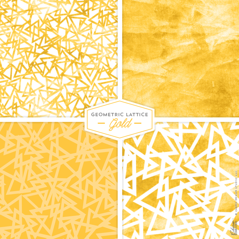 Geometric Lattice: Gold by Charm Design Studio