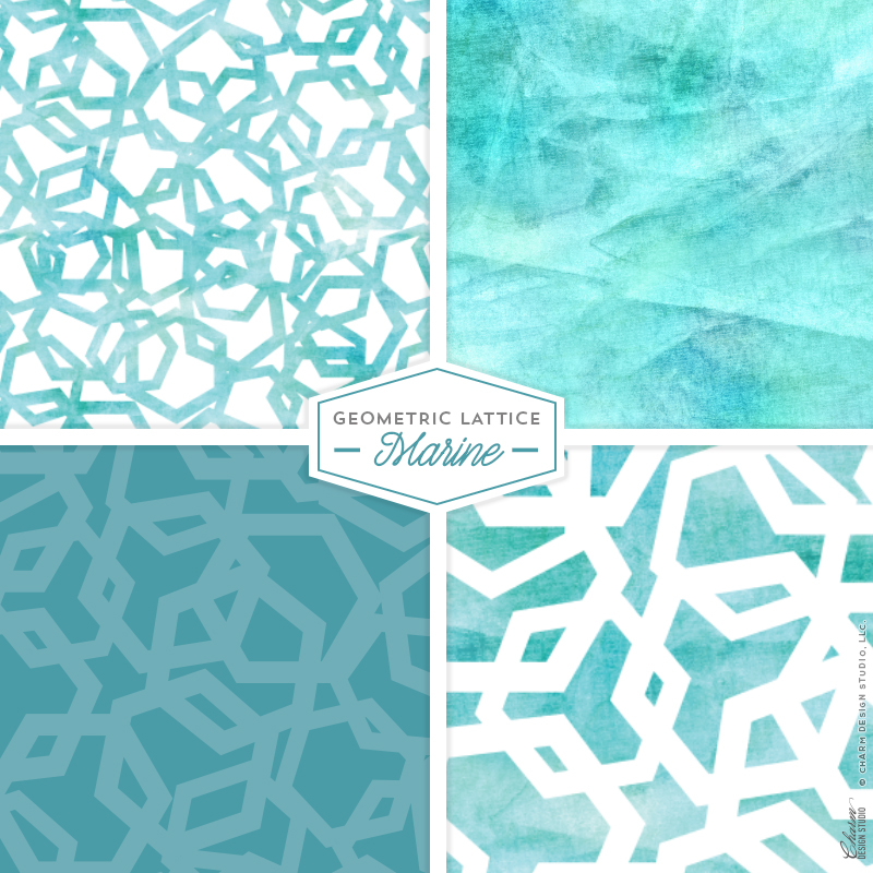 Geometric Lattice: Marine by Charm Design Studio