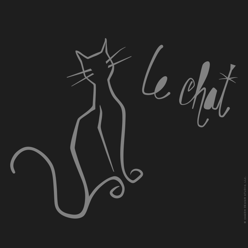 Charm Design Studio / Le Chat French Cat design detail