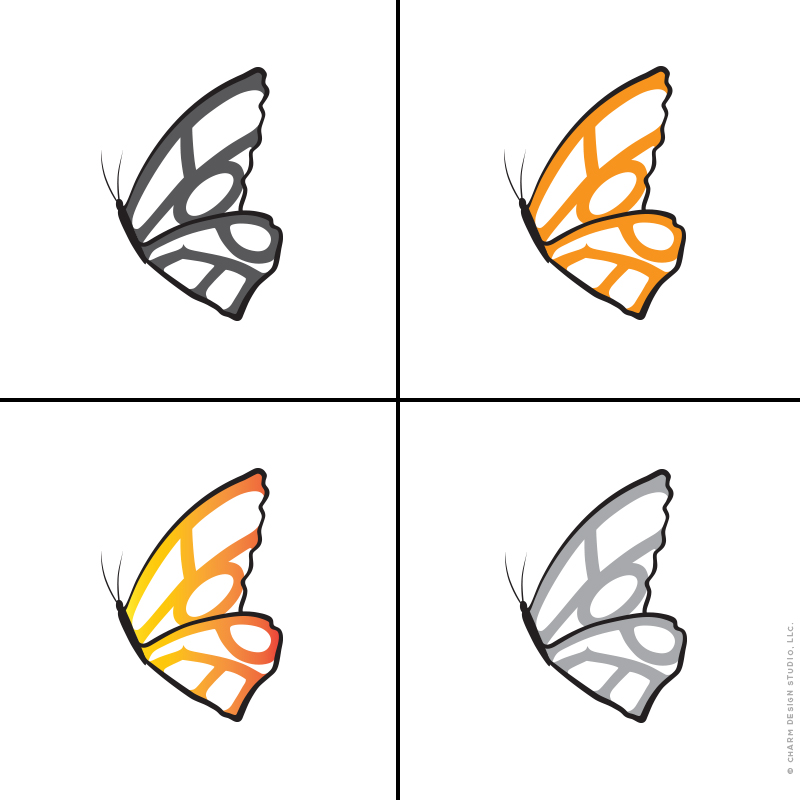 Hope Needs Wings vector illustrations by Charm Design Studio, LLC.