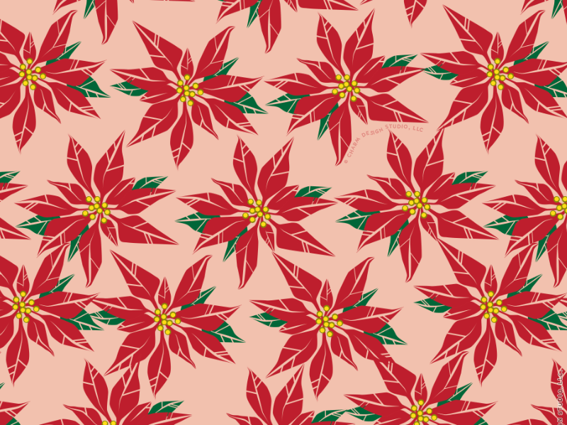Pretty Poinsettias by Charm Design Studio
