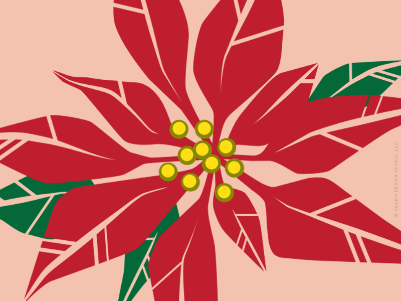 Charm Design Studio / Pretty Poinsettias design detail